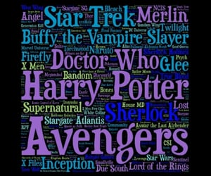 Avengers, doctor who, and harry potter image