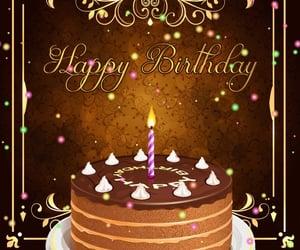 bday, cake, and birthday wishes image