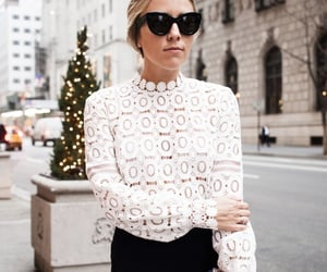 belleza, street style, and blanco y negro image