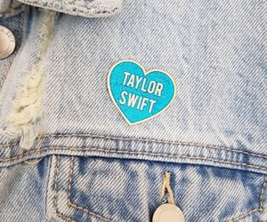 aesthetics, jean jacket, and pin image