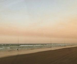 beach, soft, and sunset image