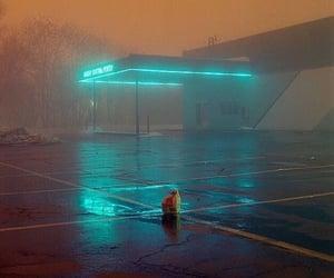 night, neon, and light image
