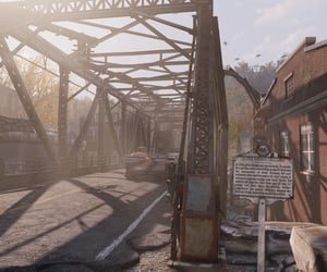 bridge, post apocalypse, and fallout image