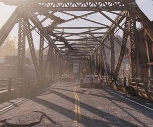 abandoned, bridge, and fallout image