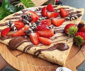 chocolate, crepes, and delicious image