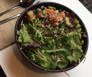 bowl, food, and veggie image