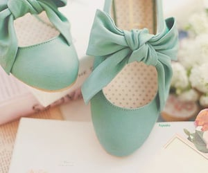 blue, pretty, and shoes image