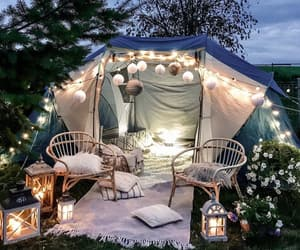 decor, light, and outdoor image