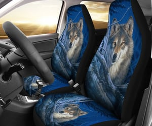 wolf, car seat covers, and wolves image