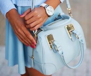 bag, blue, and girly image
