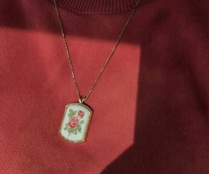 aesthetic, necklace, and red image