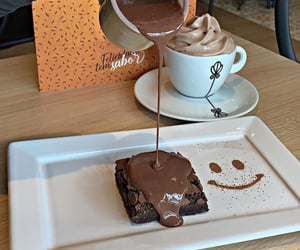 bakery, brownie, and cafe image