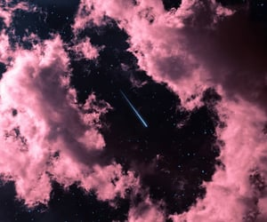 pink, clouds, and night image