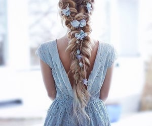 blue, pretty, and dress image