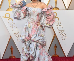 floral dress, oscars, and celeb style image