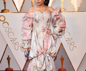 floral dress, oscars, and luxury fashion image