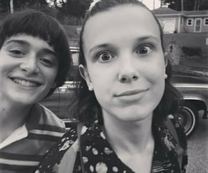 black and white, will byers, and noah schnapp image