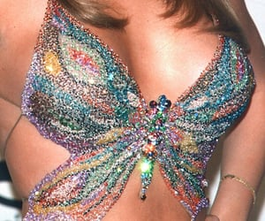 butterfly, fashion, and Mariah Carey image