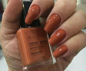 nails, orange, and autumn image
