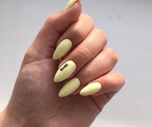 nails, pastel, and yellow image
