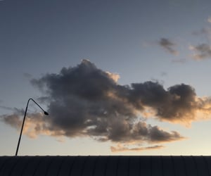 bus station, clouds, and evening image