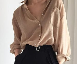 outfit, simple outfit, and loose skirt image