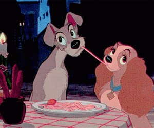disney, gif, and lady and the tramp image