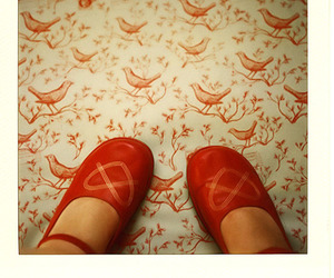 birds, fashion, and red image