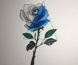 art, nature, and rose image