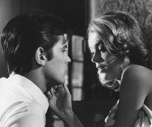 couple, love, and Alain Delon image