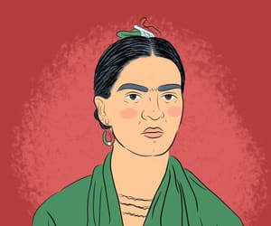 blanco, frida kahlo, and digital art image