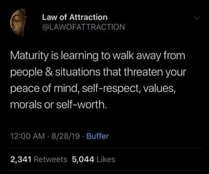 peace of mind, self worth, and self respect image