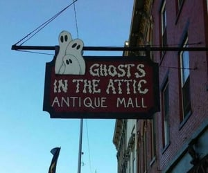 antique, ghost, and sign image