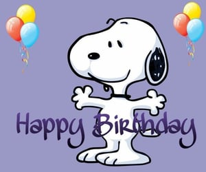 snoopy and happy birthday image