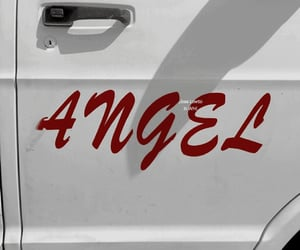 angel, aesthetic, and red image