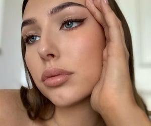 brow, eye makeup, and eyebrow image