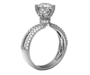 diamond ring, engagement ring, and crownring image