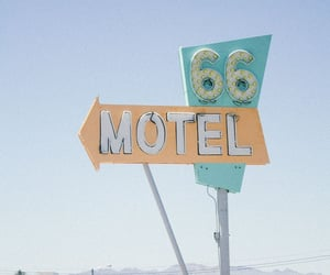 motel, road 66, and désert image