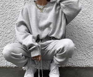 fashion, outfit, and grey image