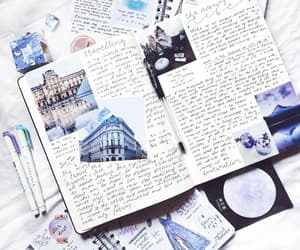 blue, writing, and bujo image