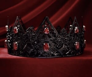 black, goth, and tiara image
