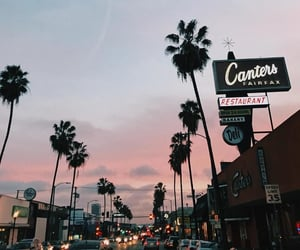 sunset, sky, and california image