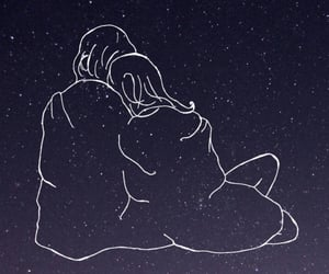 hug, stars, and love image