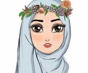 art, draw, and hijab image