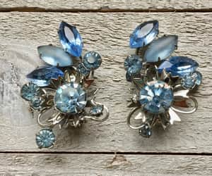 baby blue, etsy, and silver tone image
