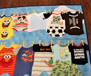 etsy, recycled clothes, and baby boy quilt image