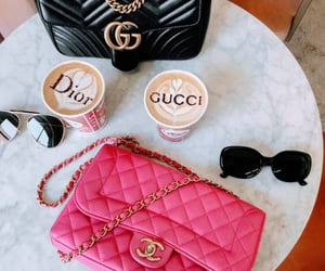 chanel, coffee, and dior image