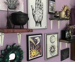 bedroom, gothic, and skulls image