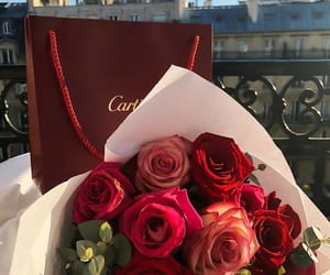cartier, rich, and flowers image