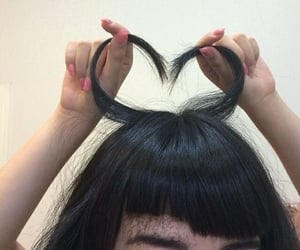 hair, aesthetic, and heart image